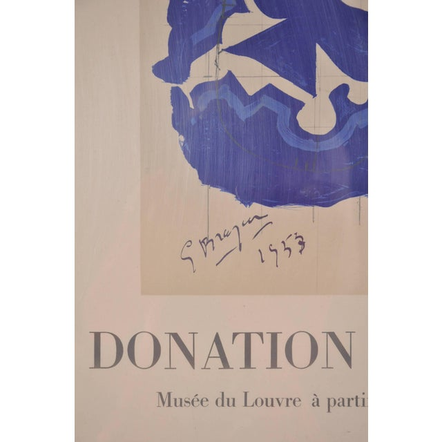 Lithography by Georges Braque for Louvre Museum, Printed by Mourlot in 1965 - Image 5 of 6