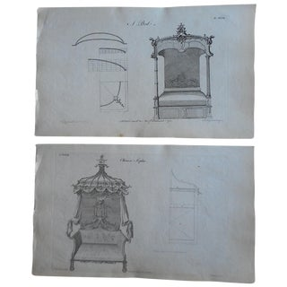 Antique Folio Chippendale Furniture Engravings - 2