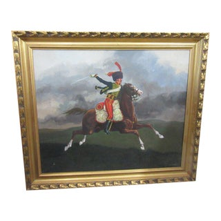 French Hussar Painting