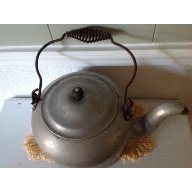 Antique Aluminum Tea Kettle - Image 3 of 7