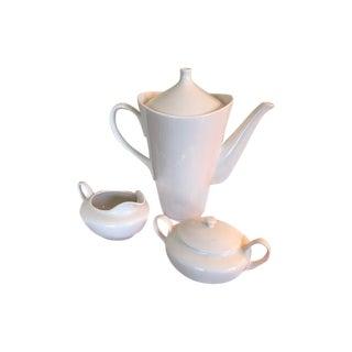 Mid-Century Ceramic Teapot, Creamer & Sugar Bowl