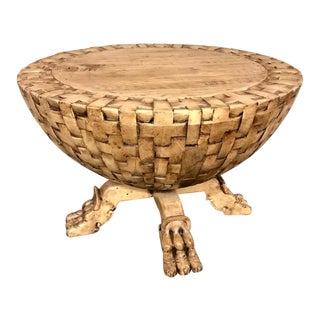 Custom Basket Weave Coffee or Side Table