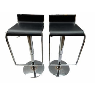 Chrome Swivel Bar Stools - A Pair