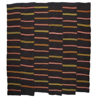 Large Kilim with Bright Stripes