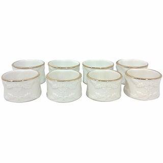 Ivory Porcelain Napkin Rings - Set of 8