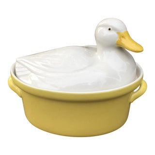 Vintage Carbone Duck Tureen