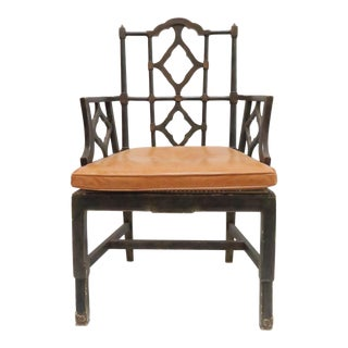 Vintage Chinoiserie Style Wooden Chair