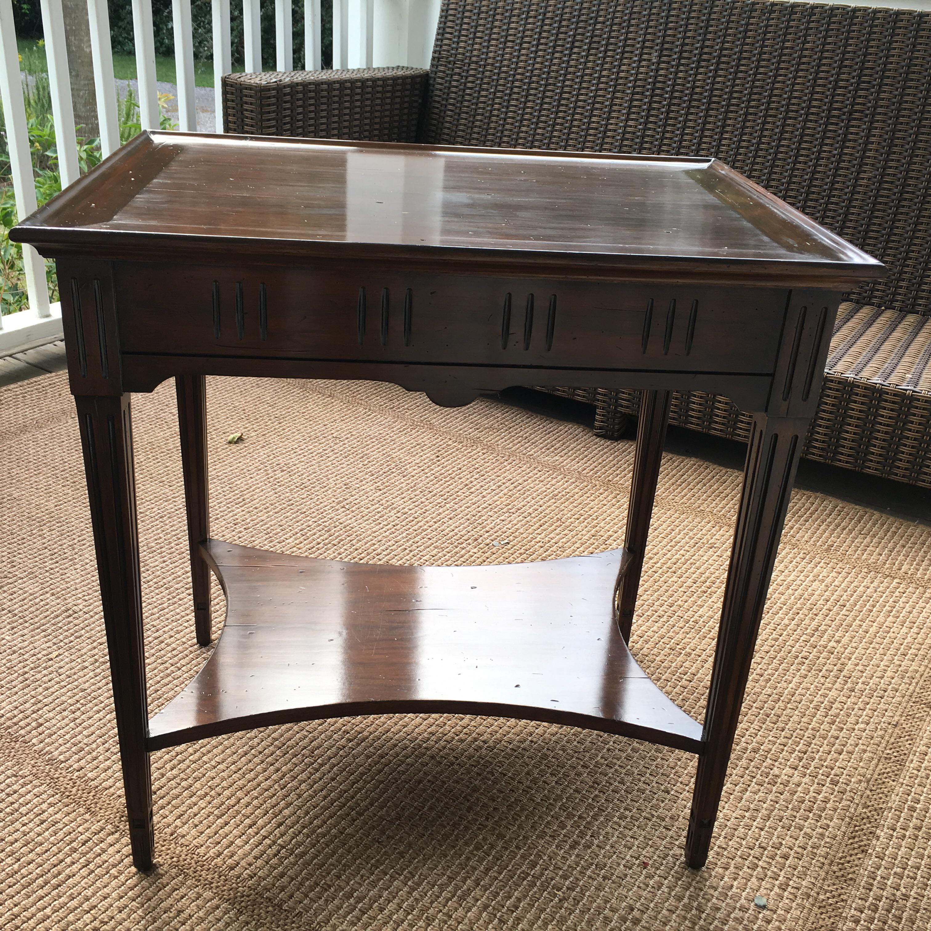 David Latesta Louis XVI Custom Made Cherry Wood Table   Image 9 Of 11