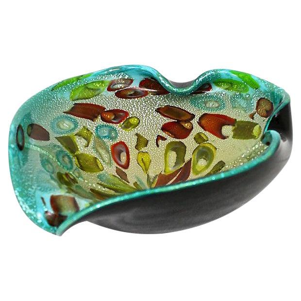 Murano Aventurine Turquoise Bowl - Image 1 of 7