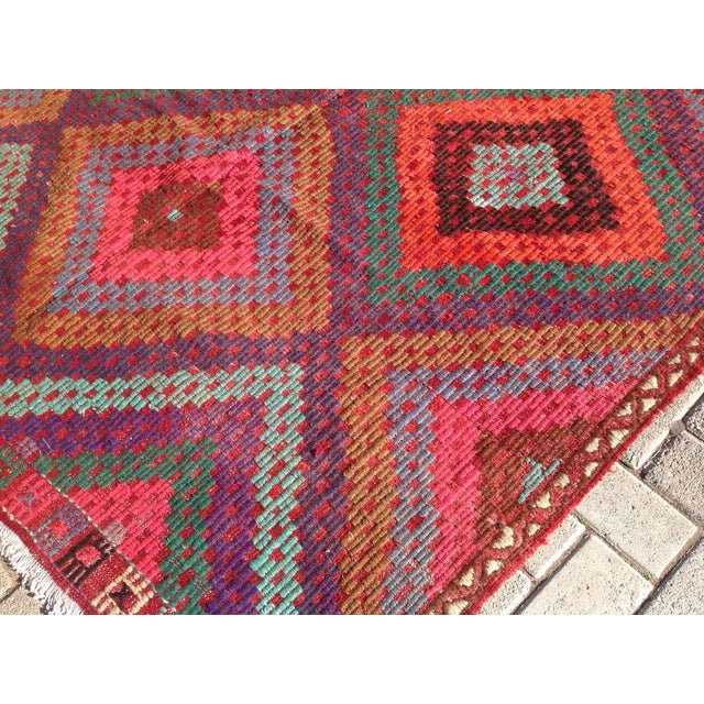 Vintage Turkish Kilim Rug - 5′11″ × 9′8″ - Image 6 of 8