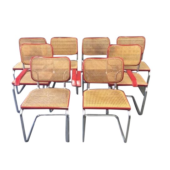 Caned Marcel Breur Cesca Chairs - Set of 8 - Image 1 of 5