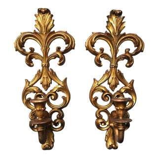 Rococo French Provincial Sconces - Vintage Pair