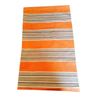 Duralee Orange Striped Fabric