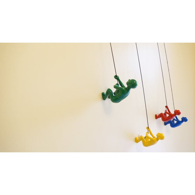 Multicolor Climbing Man Wall Art - 4 Pieces - Image 2 of 9