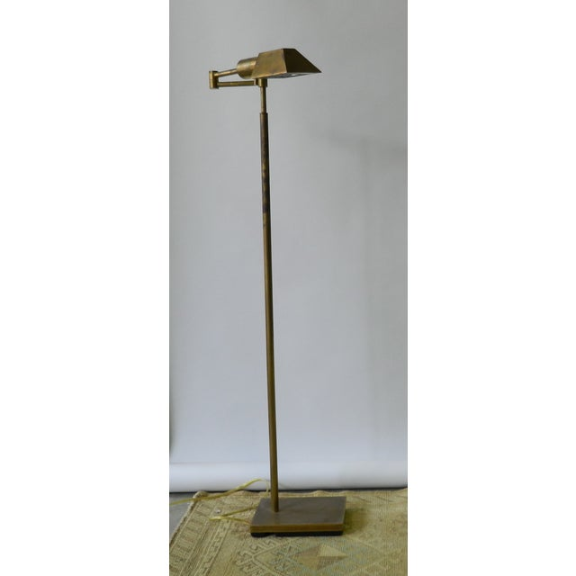 Adjustable Brass Floor Lamp - Image 2 of 4