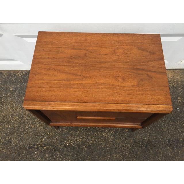 Image of Vintage Modern Walnut Nightstand