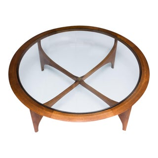Lane Mid-Century Modern Round Coffee Table