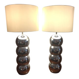 1970s Kovacs Stacked Lamps - A Pair