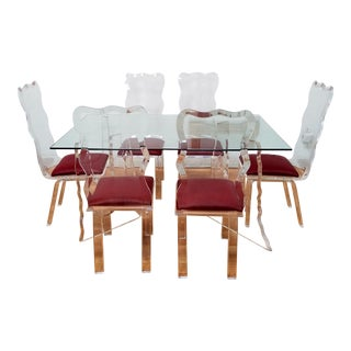 Lucite Dining Set - Set of 6