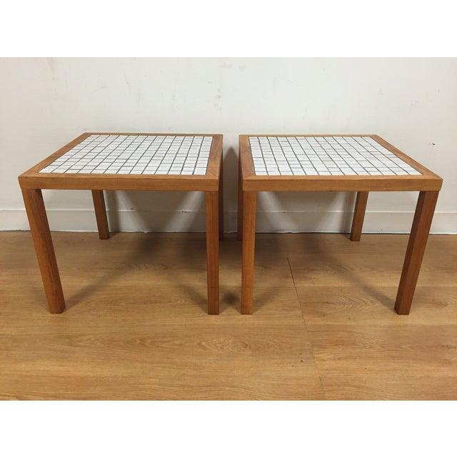 MCM Teak & Tile End Tables - A Pair - Image 2 of 7