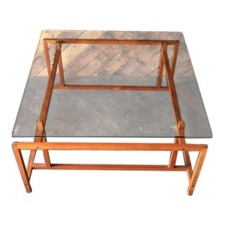 Henning Norgaard Mid-Century Danish Teak Glass Coffee Table