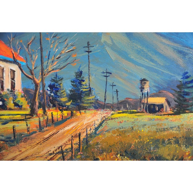 Red Roof Farm House -Oil Painting by Ben Abril - Image 8 of 11