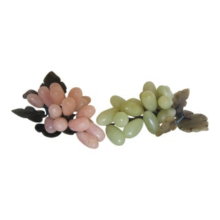 Pink & Green Marble Grape Clusters - A Pair