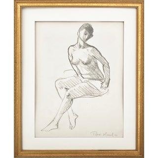 Vintage Figure Drawing by Rene Marcil