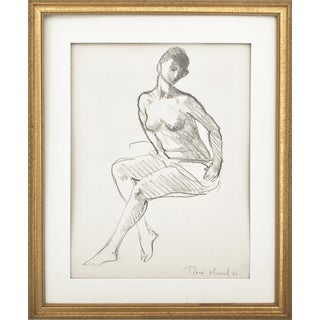 Vintage Figure Drawing by Rene Marcil
