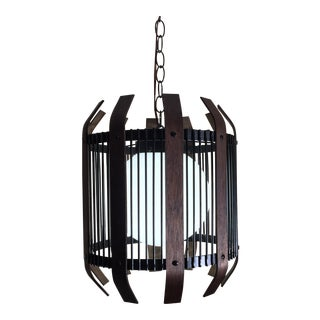 Mid-Century Globe Cage Pendant Light