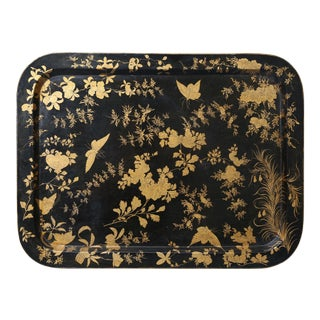 English Regency Papier Mache Serving Tray
