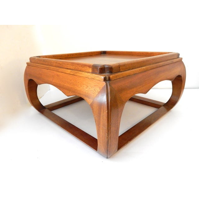 Asian Square Elm Wood Low Coffee Table Chairish