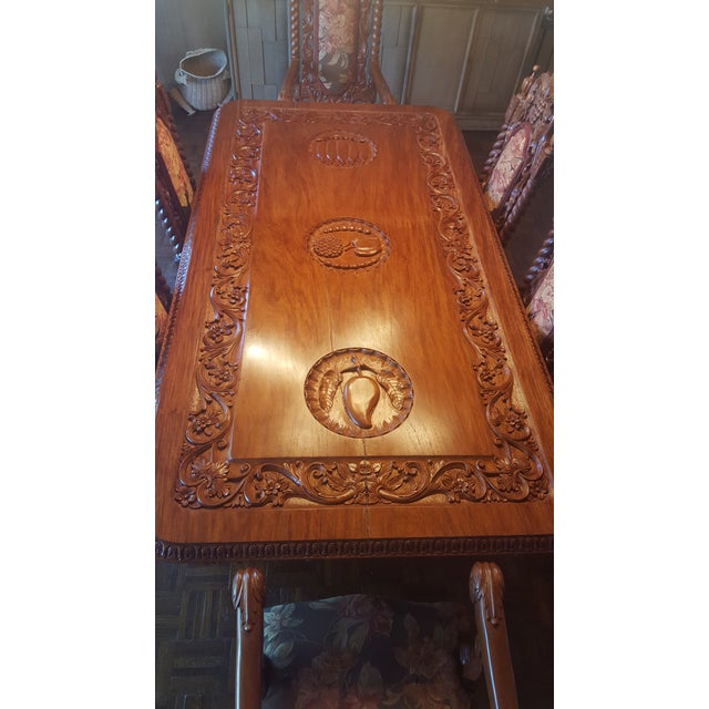 Rare Antique Narra Wood Dining Set - Image 8 of 11