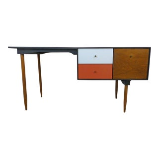 Milo Baughman Mid-Century Walnut Desk by Glenn of California