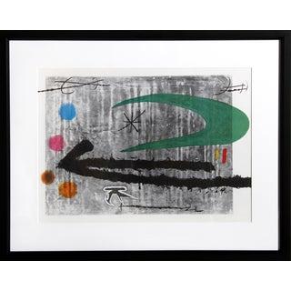 Vers La Gauche by Joan Miro Offset Lithograph