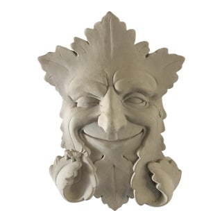 Leaf Face Plaster Wall Plaque