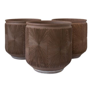 Single Robert Maxwell and David Cressey Earthgender Monumental Cylindrical Planter - 3 Available