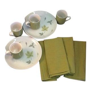 MIX & Match Atomic-Era Plates, Mugs & Cotton Napkins -12