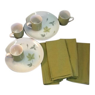 MIX & Match Atomic-Era Plates, Mugs & Cotton Napkins -12