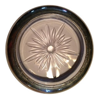 Vintage Frank Whiting Sterling Silver Glass Wine Coaster