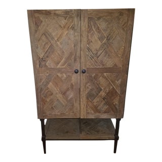 Pottery Barn Parquet Bar Cabinet