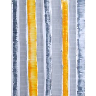 """Barajas"" Orange & Grey Painting"