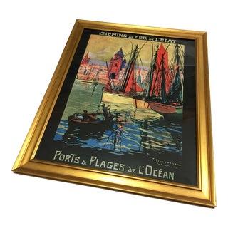 Julien Lacaze French Port Art Poster