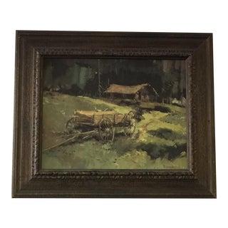 Western Wildlife Oil Painting