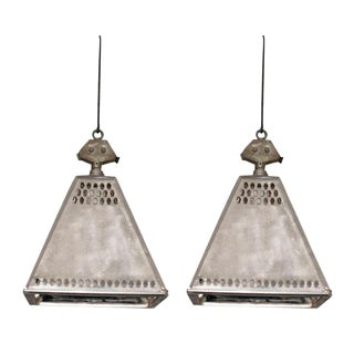Two French Industrial Pendants/Fixtures