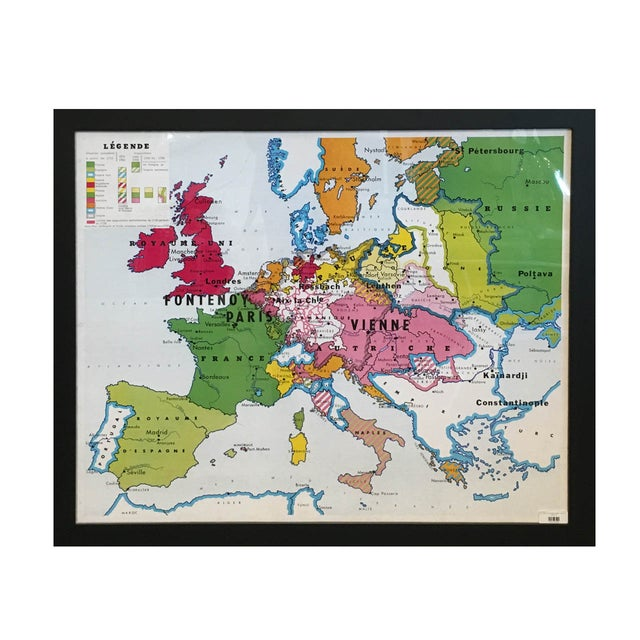 Vintage Oversized French School Map - Image 1 of 2