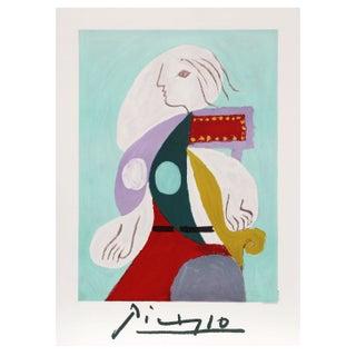 Pablo Picasso - Femme a La Robe Multicolore Litho