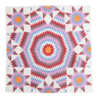 Contemporary Geometric Textile Quilt