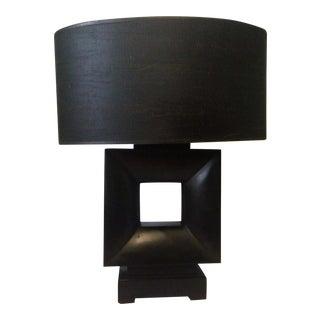"Mid Century ""Cubist"" Table Lamp & Shade"