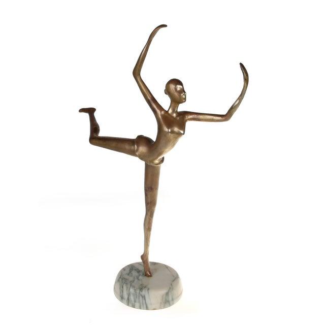 Prima Ballerina on Round Marble Base - Image 1 of 8